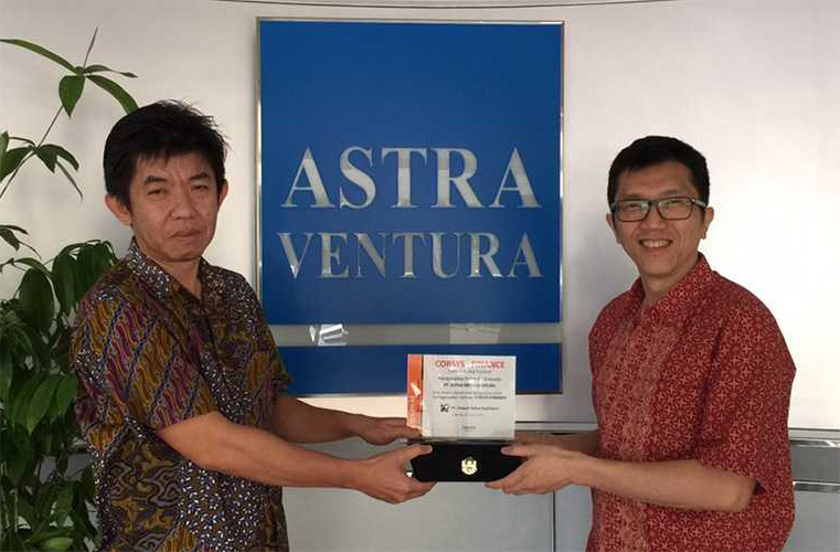 Astra Mitra Ventura<br>Signing Agreement CorSys-financ<br>(2008)